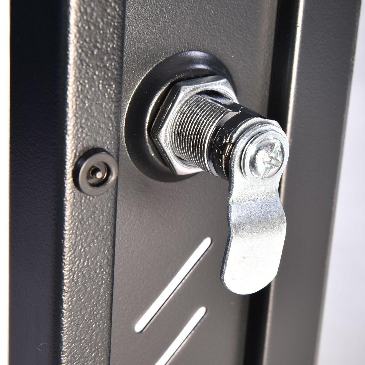 15u Wall Mount Network Server Data Cabinet Enclosure Rack Glass Door Lock W Fan Glass Door Lock Wall Mount Data Cabinet
