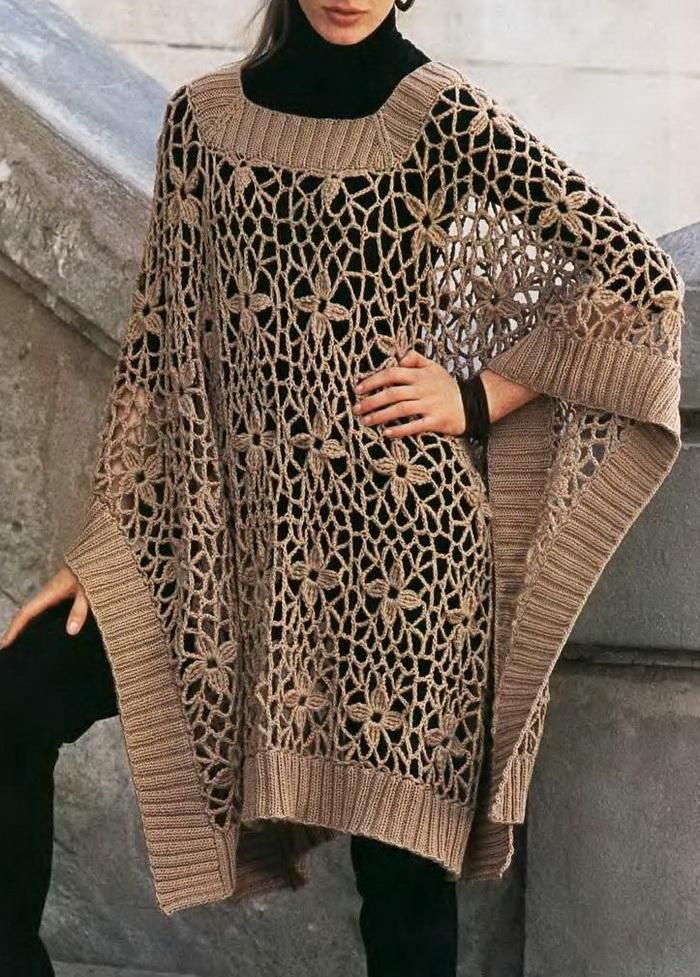 52e41ae9d116a Crochet Shawls  Crochet Poncho For Women - Crochet Lace ♪ ♪ ...   inspiration crochet  diy GB