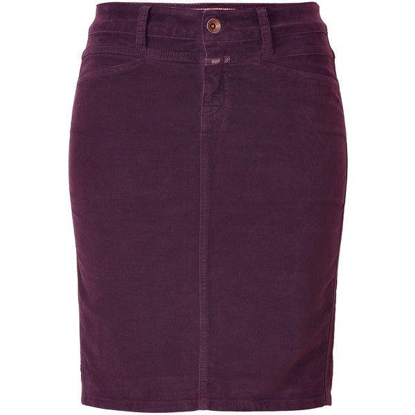 CLOSED Merlot Pencil Skirt ($140) ❤ liked on Polyvore
