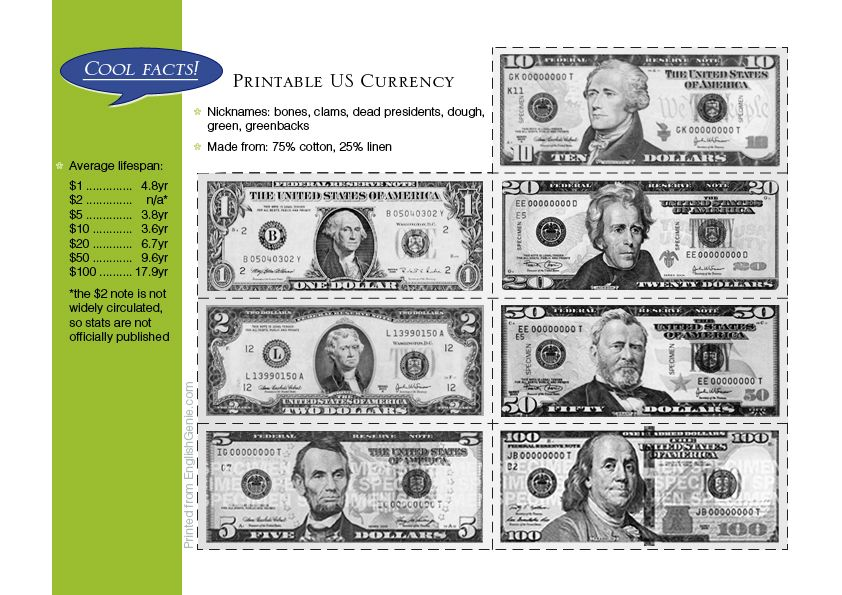 Play money - printable...