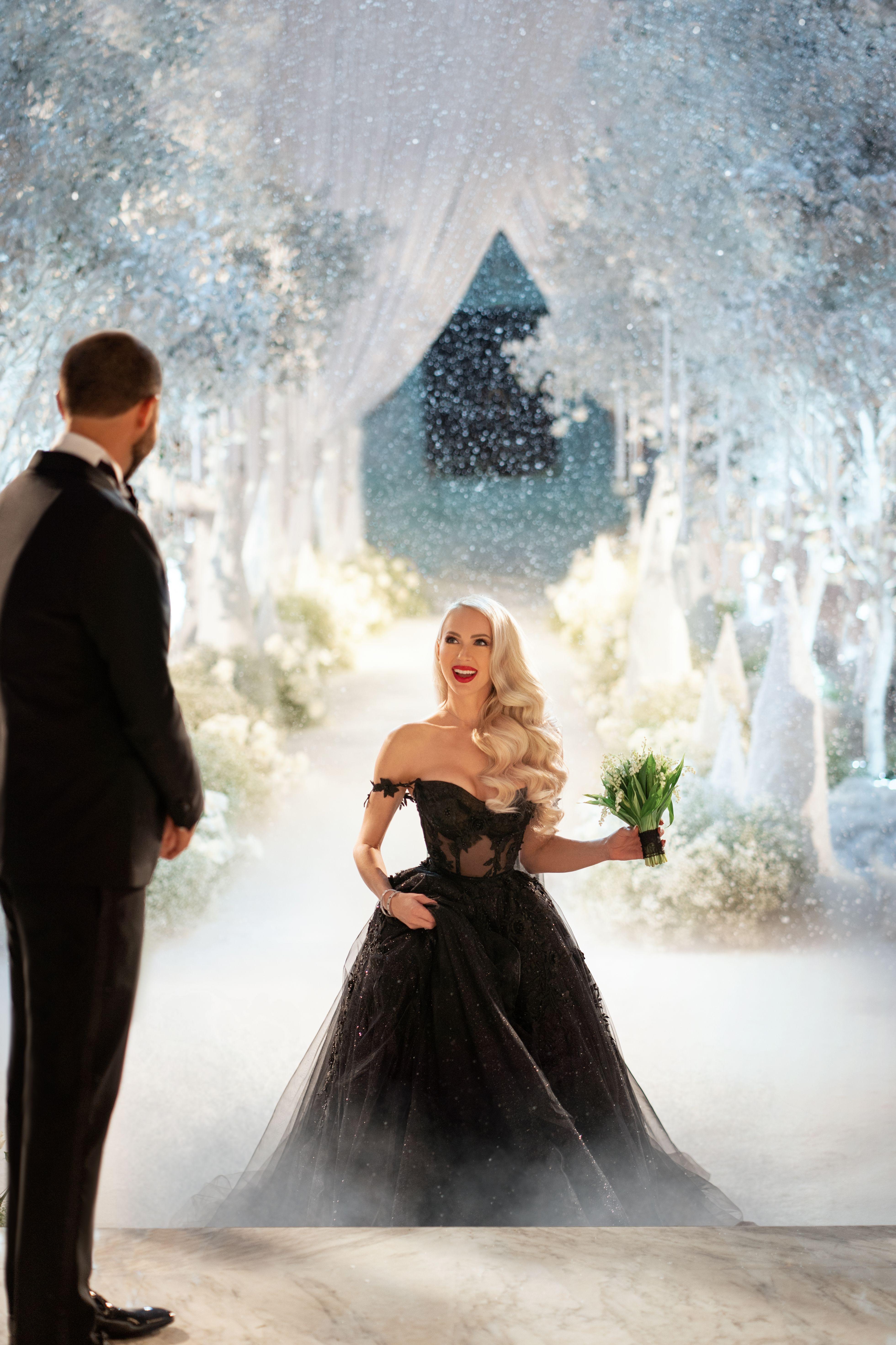 Galia Lahav Christine Quinn Black Bridal Ballgown In 2020 Beautiful Wedding Dresses Big Wedding Dresses Gothic Wedding Dress