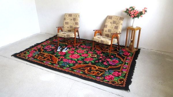 1 85x2 95m 6.1x9.7ft tapis kilim laine floral rug morrocan