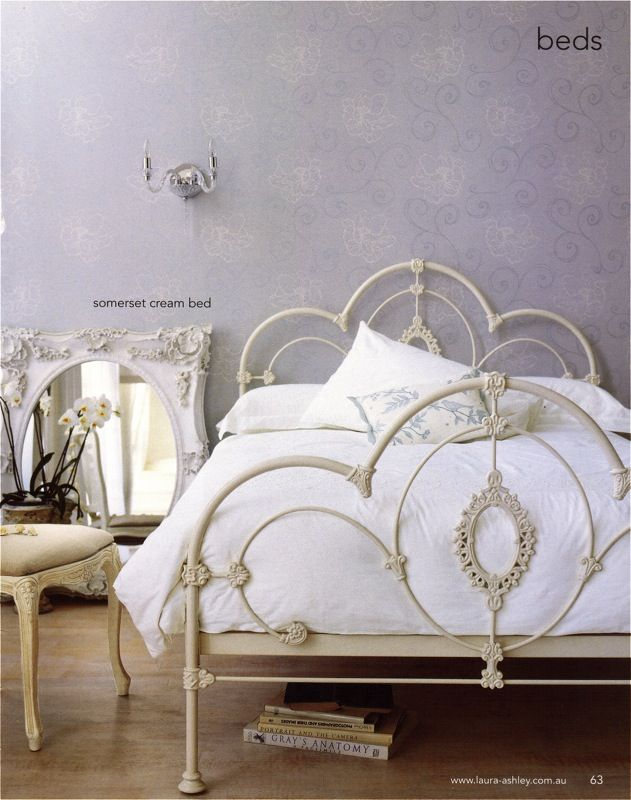 Laura Ashley Bed Somerset Cream Iron Bed Frame Iron Bed