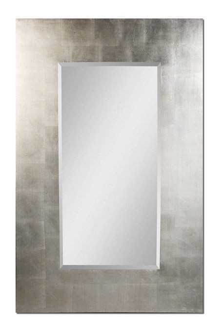 Large Wide Frame Bathroom DRESSING FLOOR MIRROR Rectangle 36x56 Silver Leaf NEW