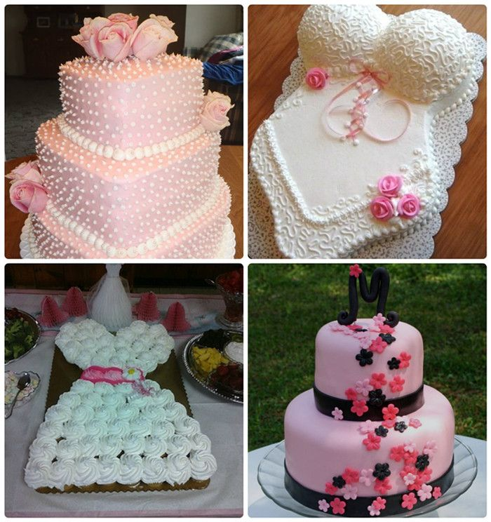 bridal shower themes for spring%0A Love these cakes  Top my absolute favorite   Also gives Bridal shower ideas  and