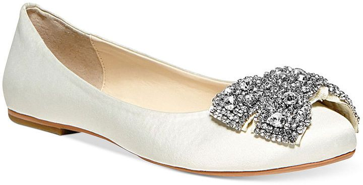 Betsey johnson blue by ever bow ballet flats bridal