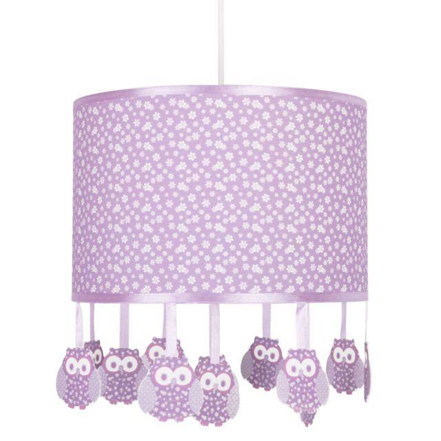 Girls Bedroom Modern Owl Purple Lilac & White Ceiling ...