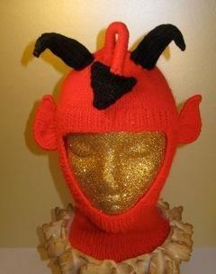 Kết quả hình ảnh cho knitting halloween RED DEVIL BALACLAVA