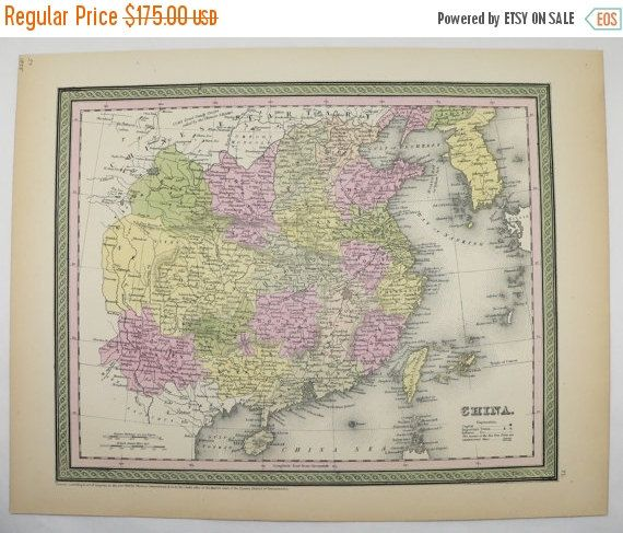 1800s antique china map formosa taiwan map korea 1855 mitchell map 1800s antique china map formosa taiwan map korea 1855 mitchell map vintage art gift for couple asian wedding gift old world travel map available from gumiabroncs