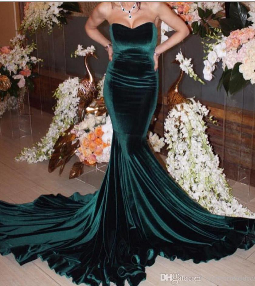 Long hunter green prom dresssexy evening dresssexy prom gownslong
