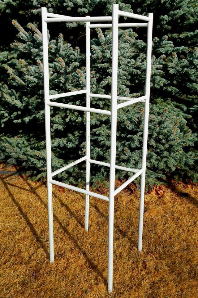 Practical Tomato Cage - 5-foot PVC Pipe Structure - Vegetable Garden Support & Practical Tomato Cage - 5-foot PVC Pipe Structure - Vegetable Garden ...