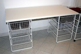 Hobby Craft Table With Basket Storage Craft Tables With Storage Ikea Storage Baskets Craft Table Diy