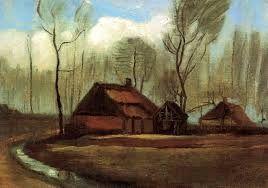farmhouse among trees vincent van gogh
