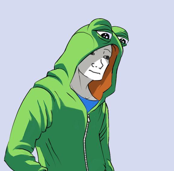 Wojak In A Pepe Hoodie Wojak Pinterest Memes Dankest Memes
