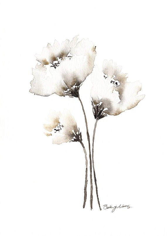 Image Result For How To Paint A White Carnation Watercolor Art