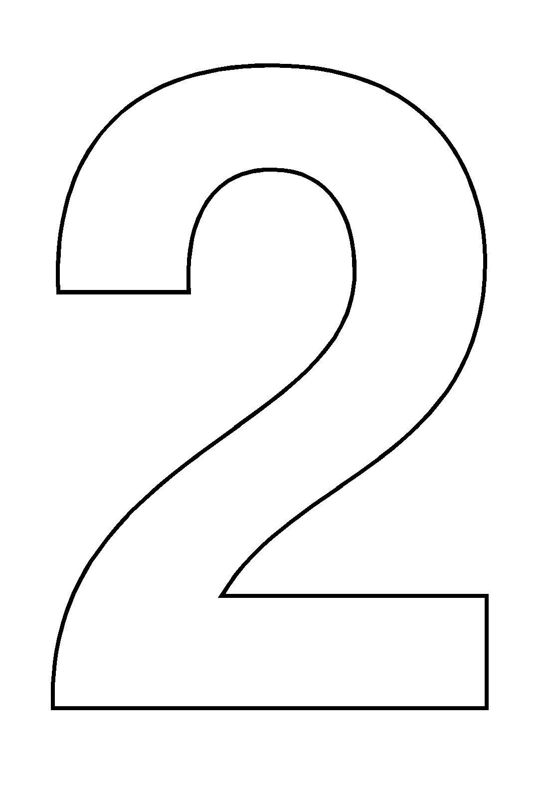 Coloriage  imprimer Chiffres et formes Chiffre deux numéro