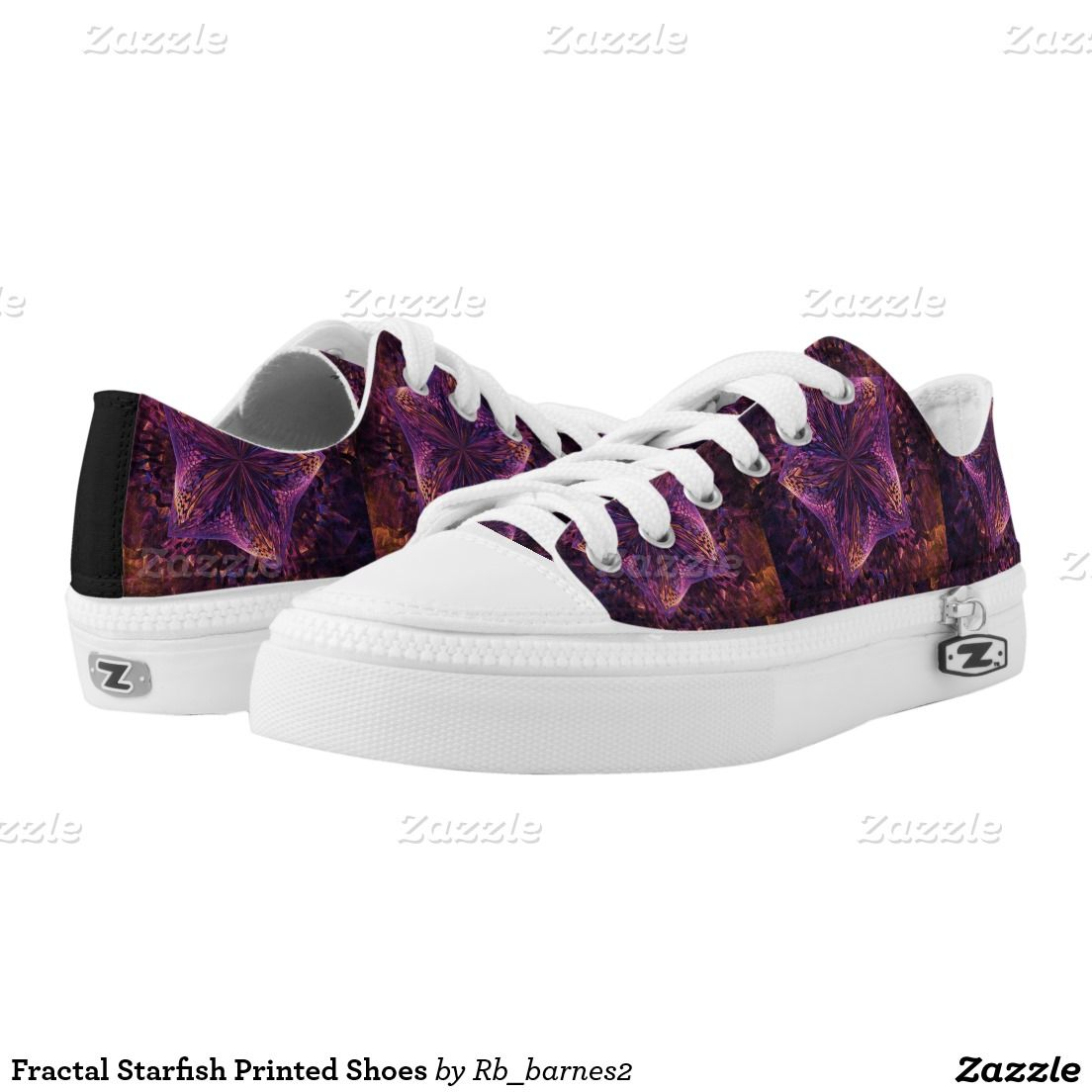 Fractal Starfish Printed Shoes