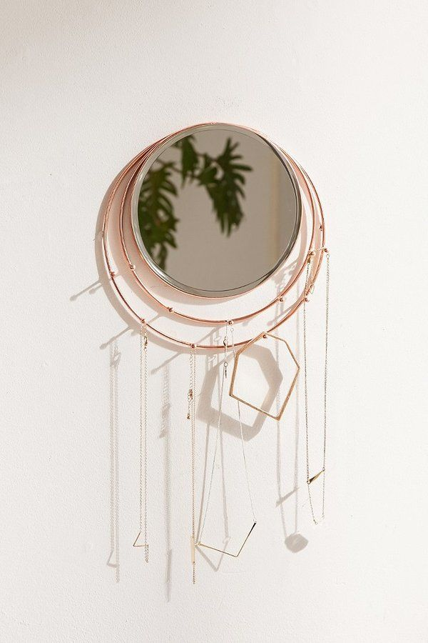 Wall-Mounted Lapis Mirror + Jewelry Storage