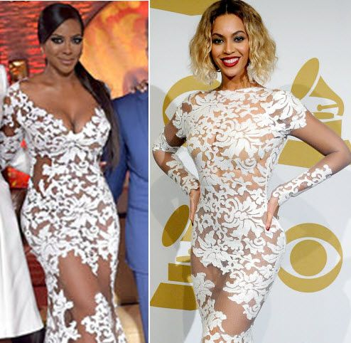 Who Wore It Better? Kenya Moore Or Beyonce White Lace Dress – VOTE ...