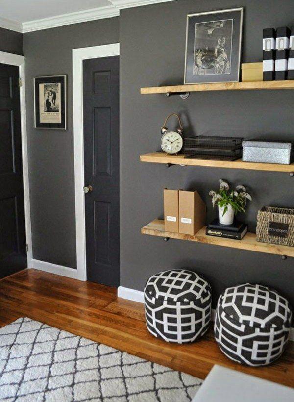 wandfarbe grau wohnzimmer wandregale Walls \ Paint Pinterest - wandfarbe grau