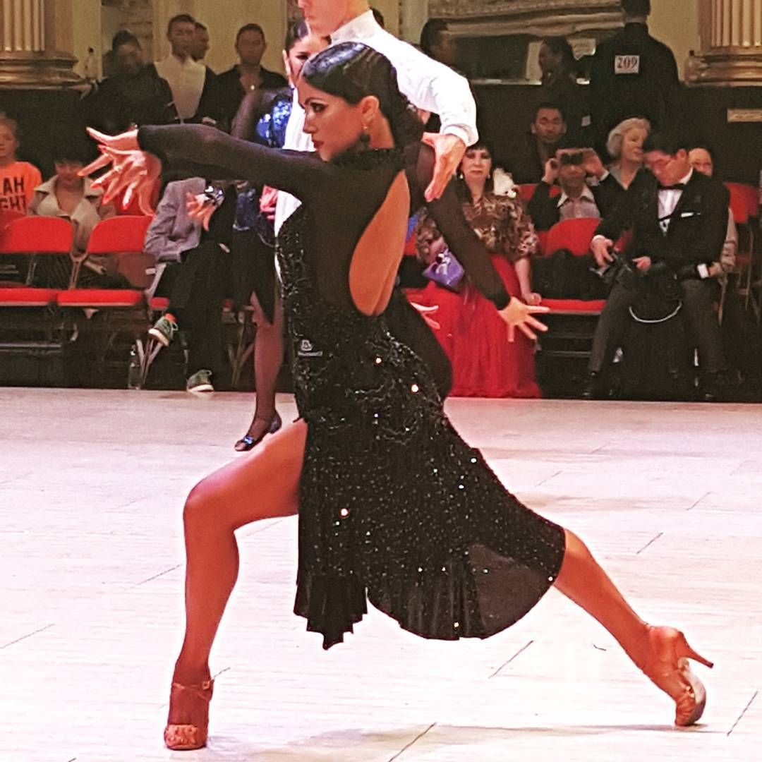 roselina doneva in her first pro latin blackpool dance