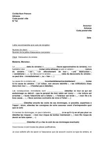 Lettre De Declaration De Sinistre A L Assurance Habitation Modele De Lettre Gratuit Exemple De Lettre Type D Exemple De Lettre Modeles De Lettres Lettre A