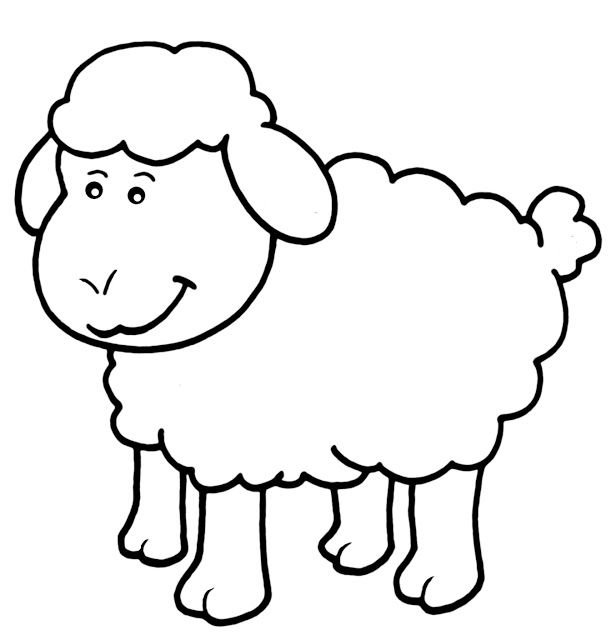 Free Dig Stamp Lamb Chop Animal Coloring Pages Coloring Pages Sheep Template