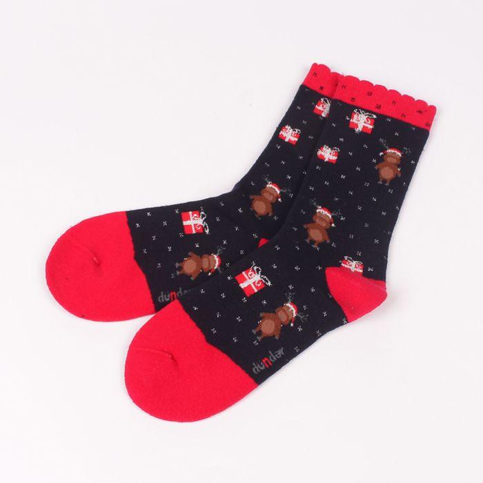93425c106f5 Дамски термо чорапи в тъмносин цвят. Чорапите са с червен ластик, пета и  пръсти