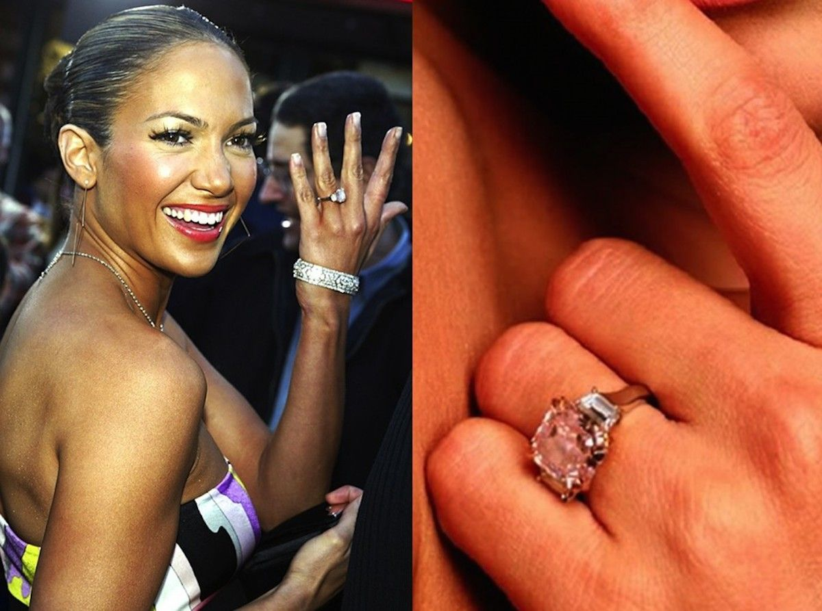 Pin On Celebrities With Colored Diamond Engagement Rings