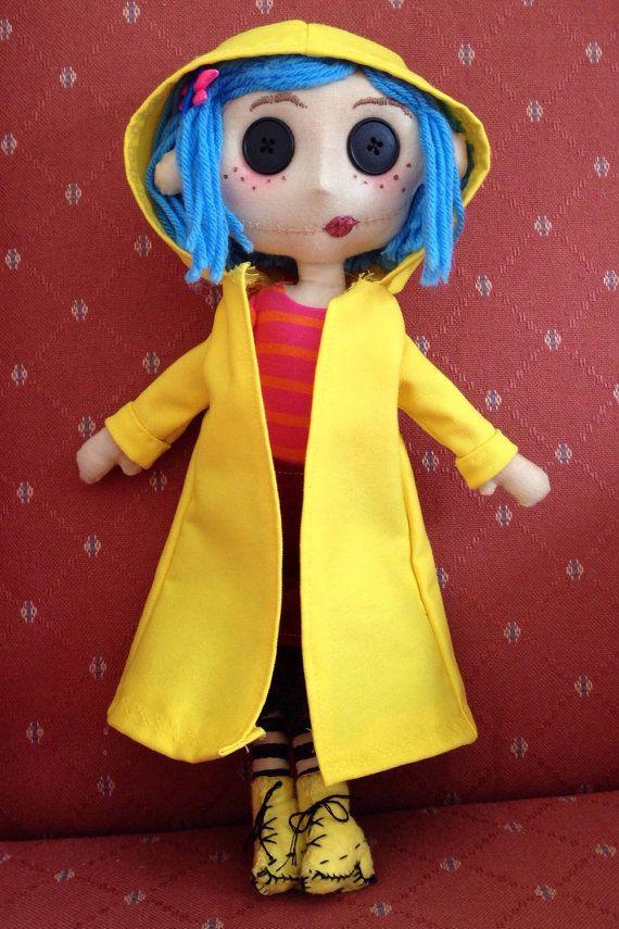 Coraline Doll By Hensandhobbyholic On Etsy Coraline Doll Coraline Costume Coraline