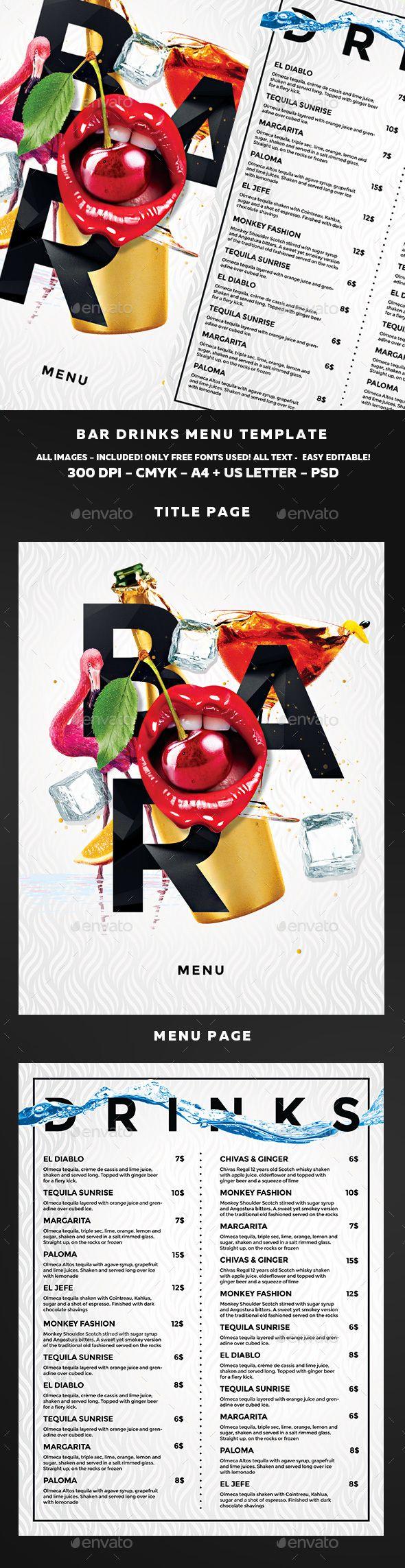 Cocktail Menu | Pinterest