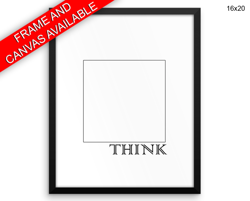 Think Outside The Box Canvas Art Think Outside The Box Printed Think ...