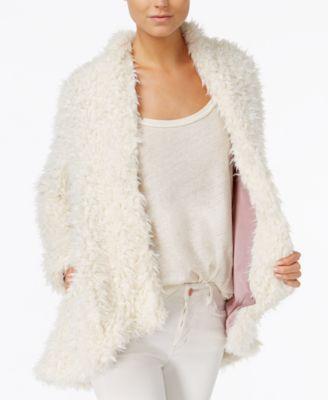 Free People Asymmetrical Faux-Fur Coat | macys.com