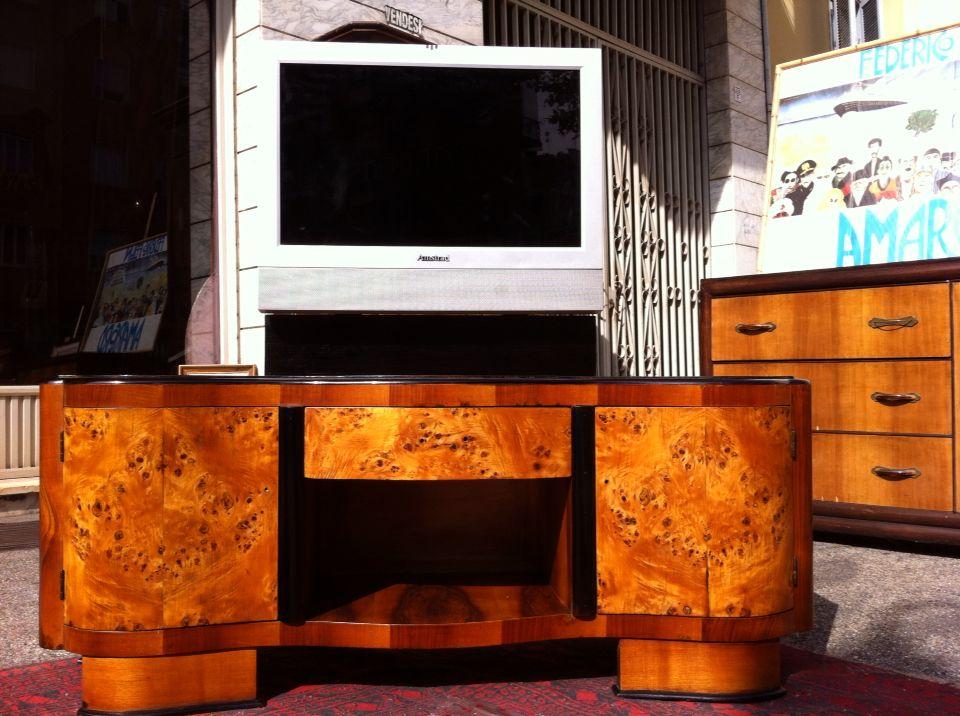 Tavolino Tv ~ Toilette art dèco trasformata in mobile porta tv