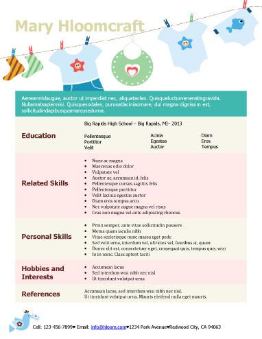 CreativeFun Mum  Resume Templates    Cv Template