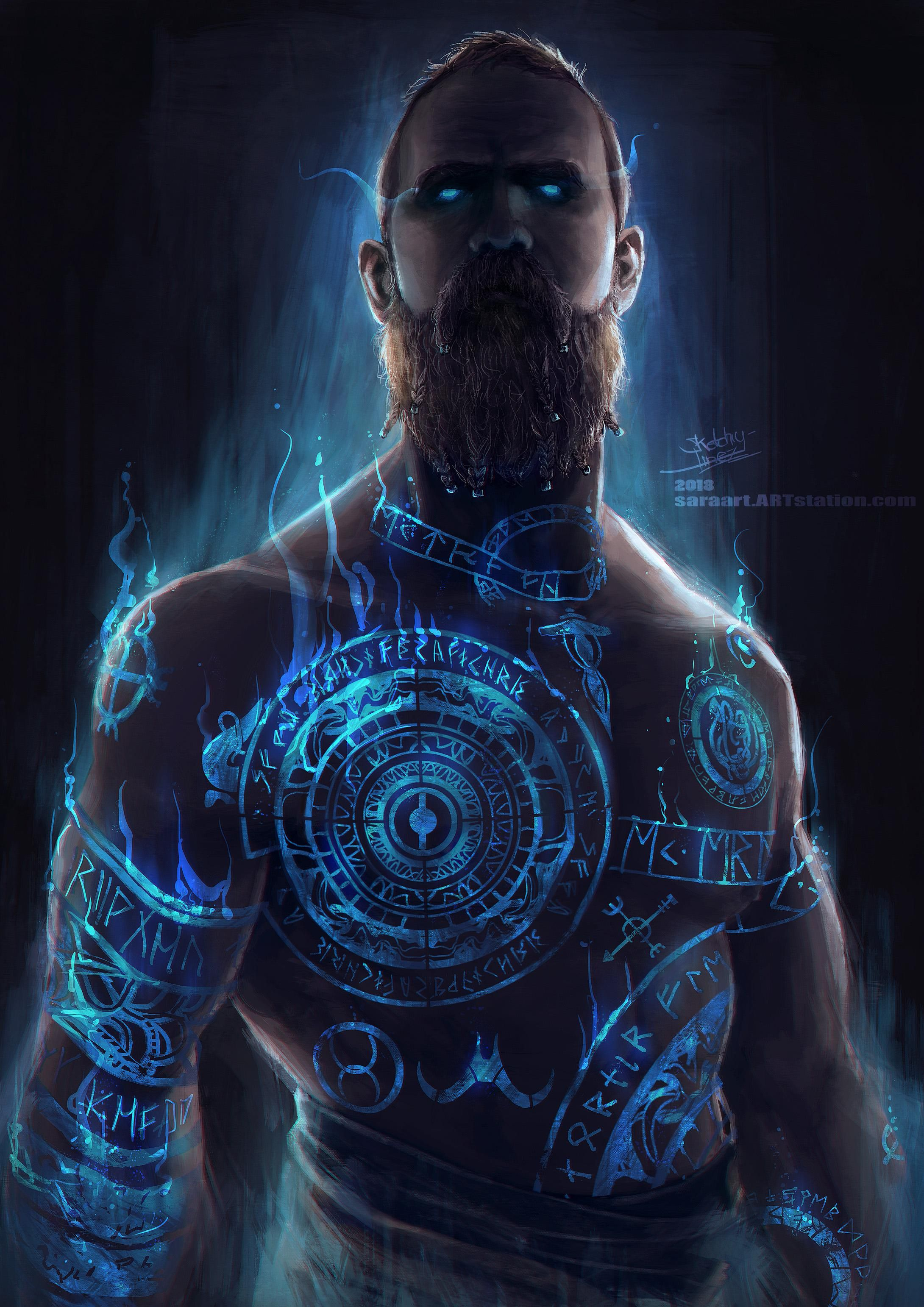Sharing My Fanart Of Baldur From God Of War Gaming Pinterest
