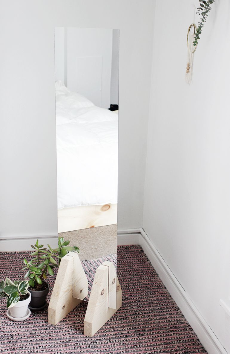 DIY Minimal Floor Mirror @themerrythought | Merry DIY | Pinterest ...