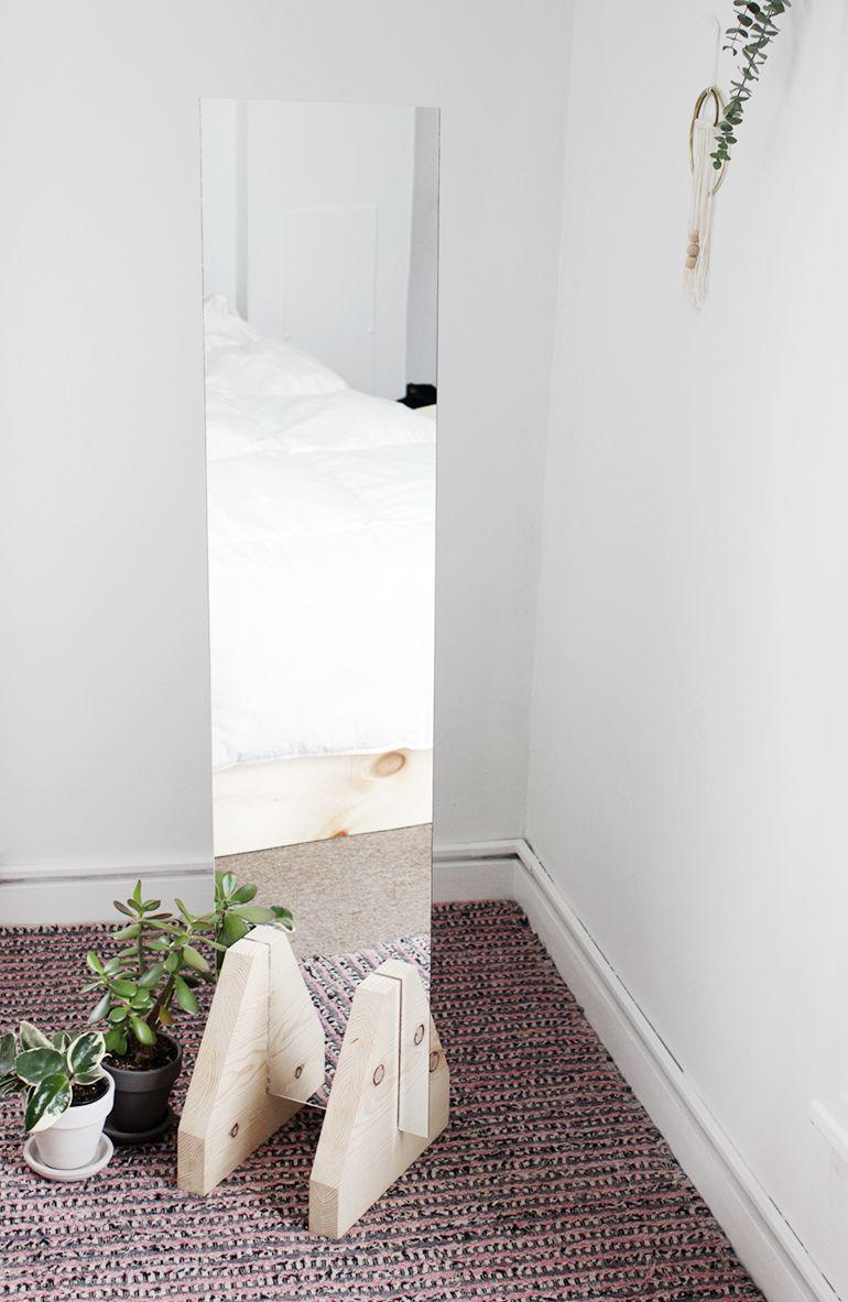 Diy Minimal Floor Mirror Handgemachte Spiegel Ideen Zum Selbermachen Fur Zu Hause Und Diy Projekte Mobel