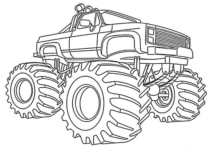 monster truck ausmalbilder zum ausdrucken | coloring pages ...