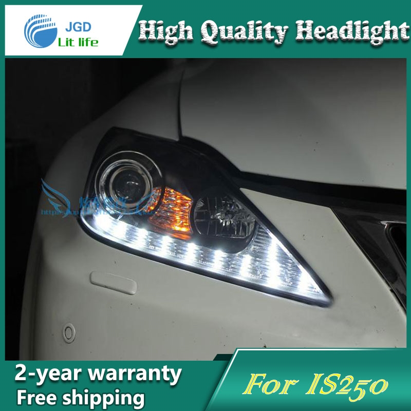 750.50$  Watch now - http://alixje.worldwells.pw/go.php?t=32702993475 - Car Styling Head Lamp case for Lexus IS250 IS300 Headlights LED Headlight DRL Lens Double Beam Bi-Xenon HID car Accessories 750.50$