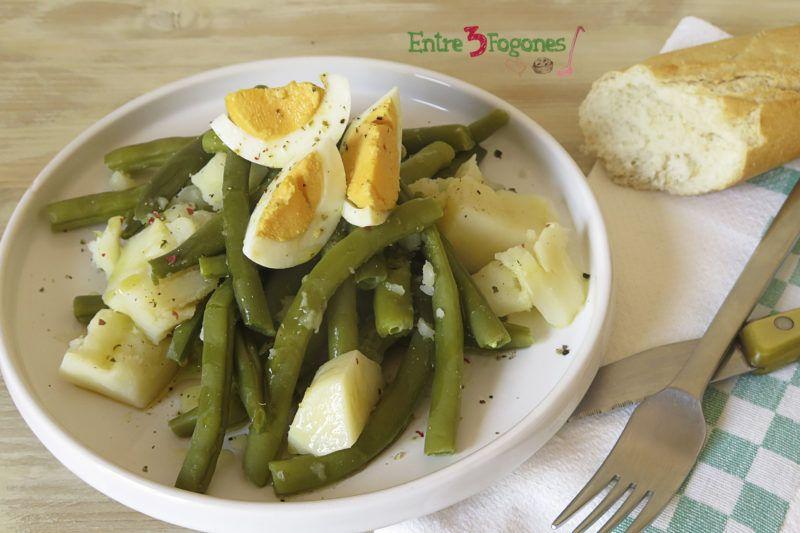 Ensalada De Judías Verdes Con Patata Y Huevo Cocido