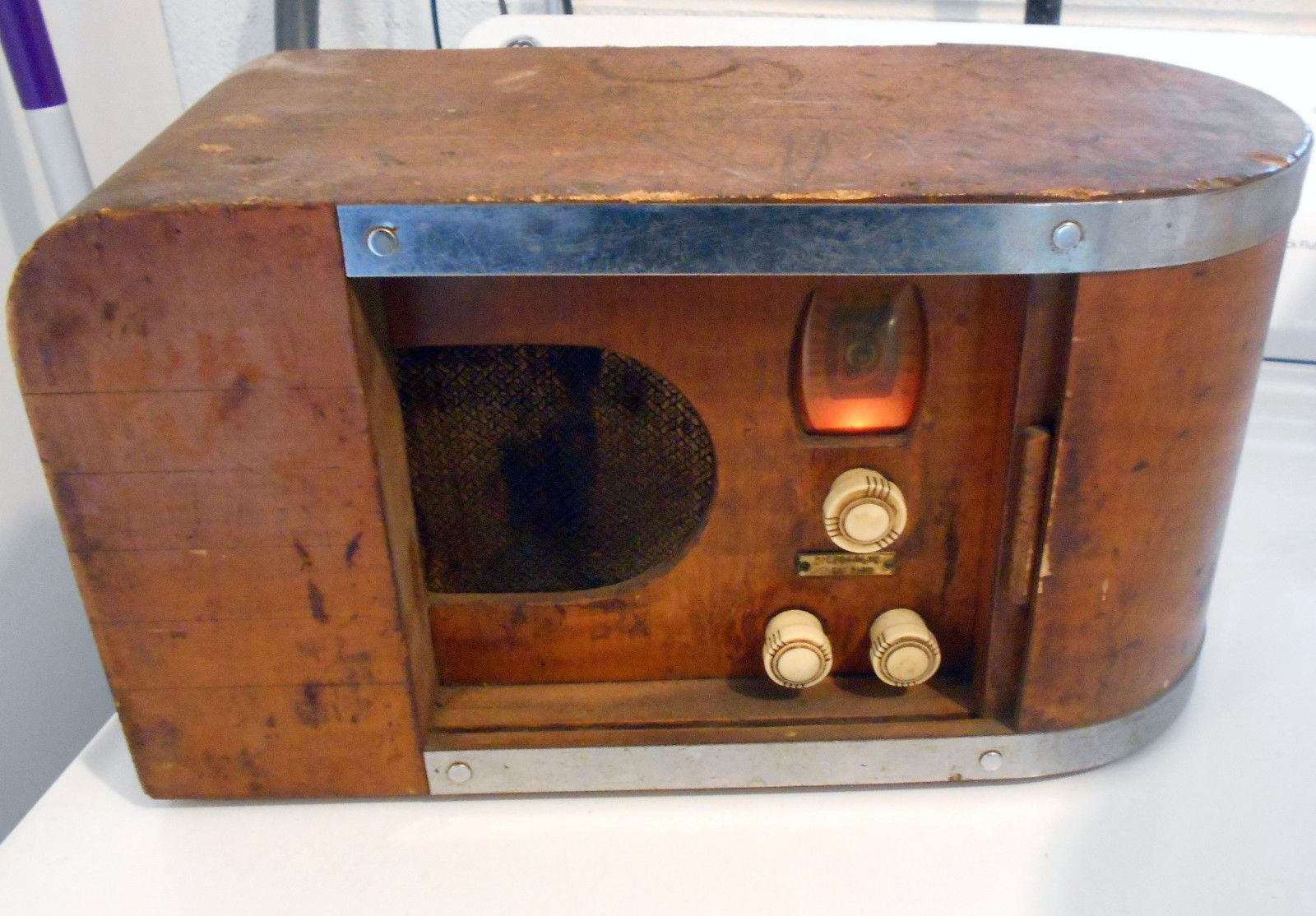 Vintage 1936 Dictograph Silent Radio Working Art Deco Style Tube Radio Ebay Retro Radios Vintage Radio Old Radios