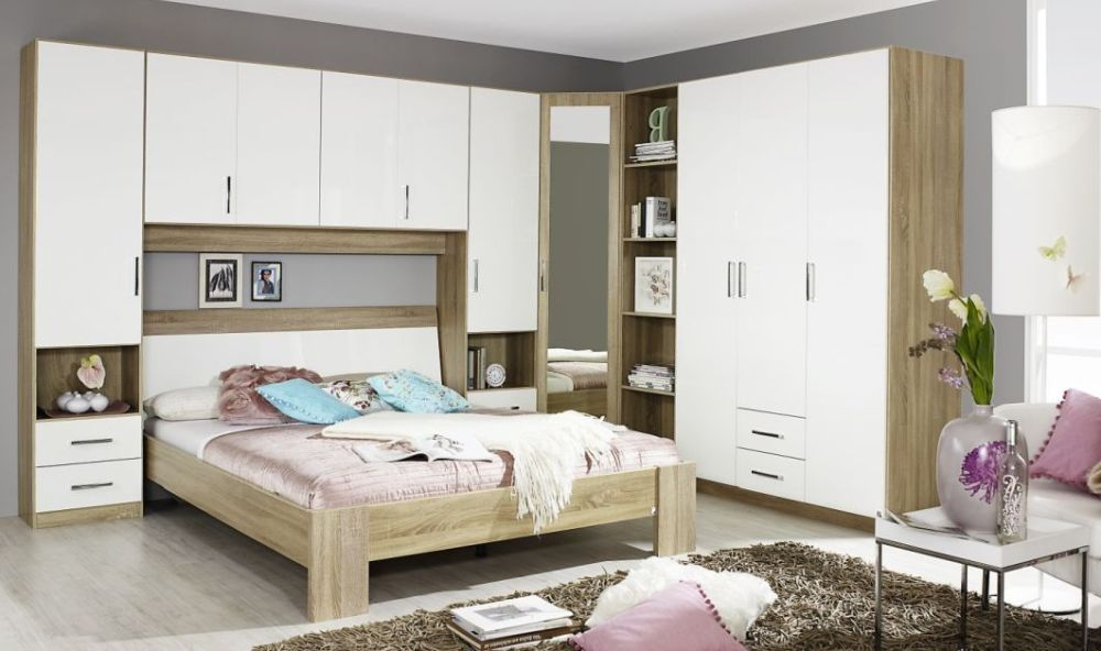 Rauch Samos Overbed Unit In Sonoma Oak And High Gloss