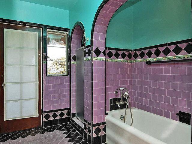 Pinkish Lavender And Aqua 1930 Bath Vintage Bathrooms