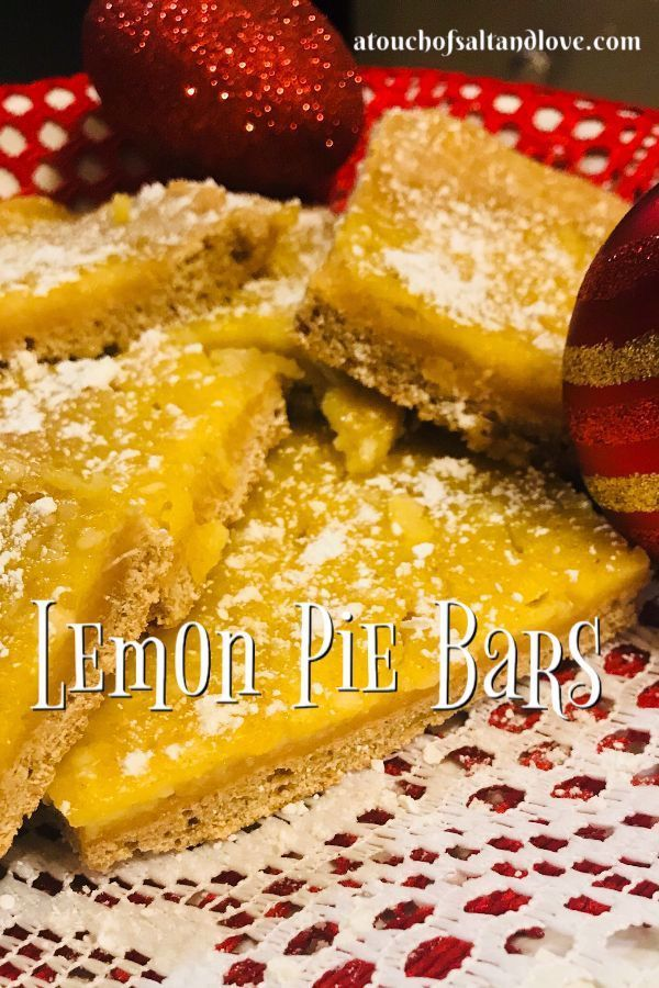 This lemon pie bar recipe is so delicious!  These lemon dessert bars have the perfect amount of swe