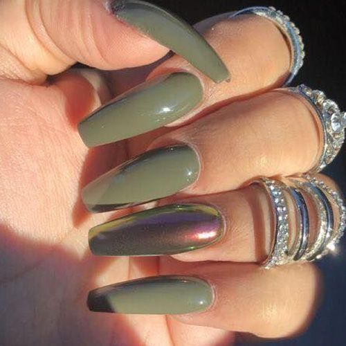 50 Best Fall Acrylic Nails For 2018 Favhq Com Fall Acrylic Nails Green Nail Designs Cute Acrylic Nails