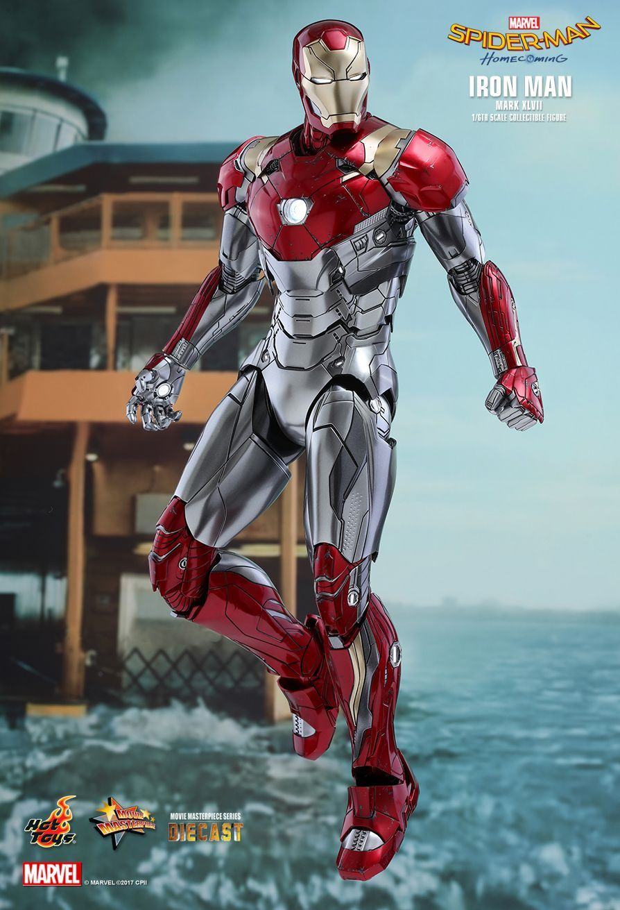 hot toys : spider-man: homecoming - iron man mark xlvii 1/6th scale