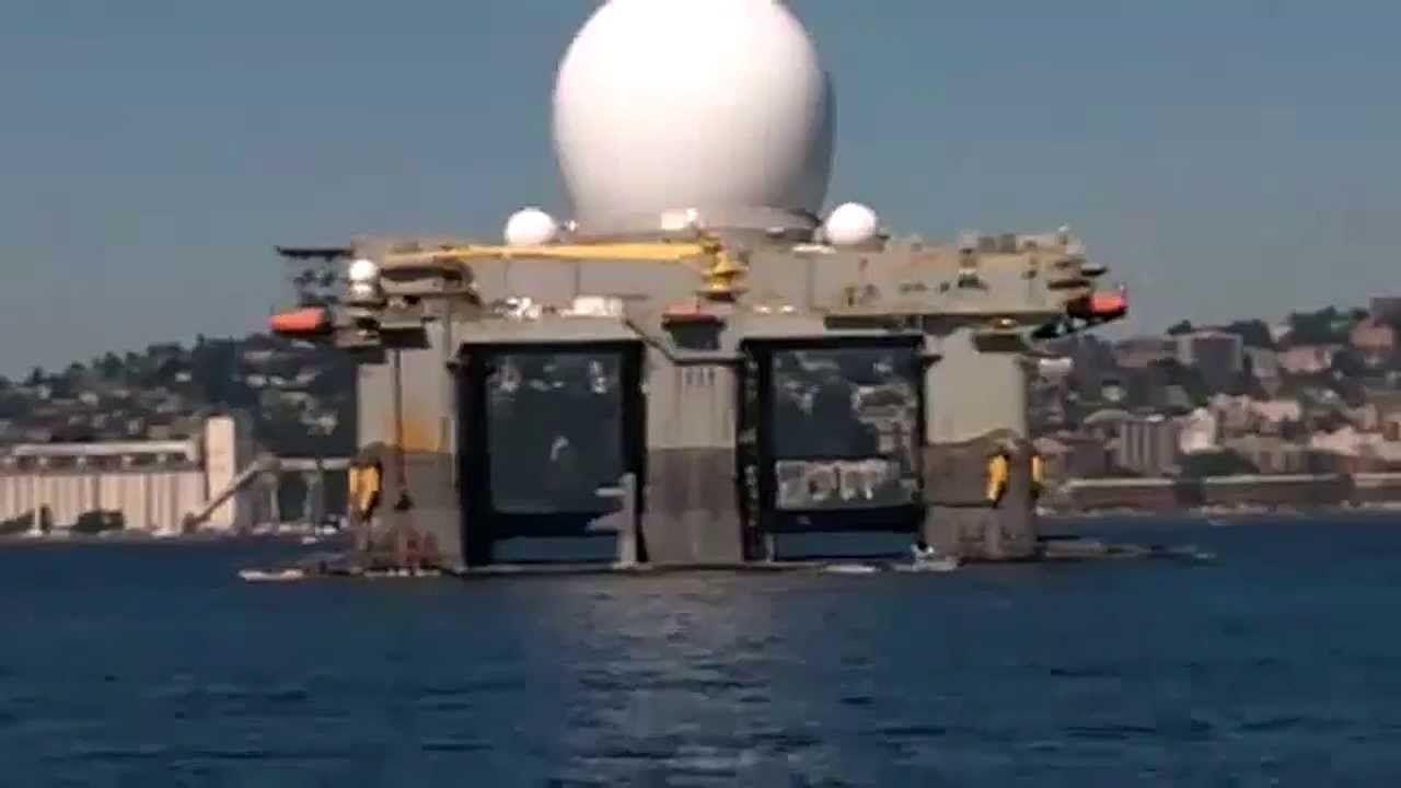 US Navy Deploying HAARP Tesla Weapon Platform SBX-1 to Hit North Korea with  Earthquakes (HD)