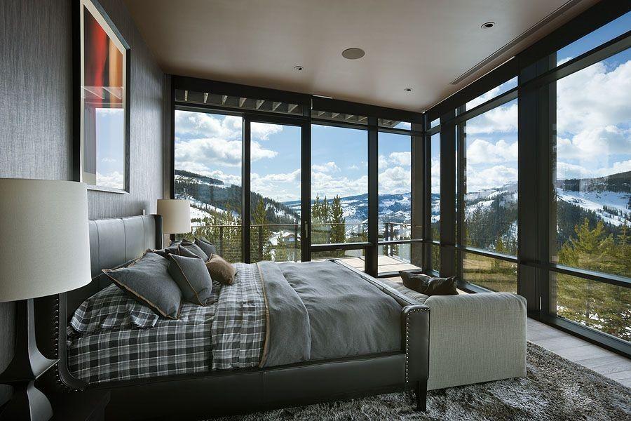 tiefen graustufen machen dieses master schlafzimmer aussehen maskulin und elegant - Masterschlafzimmerdesignplne