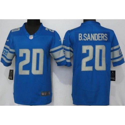 d4ae82ae4 Men s Detroit Lions  20 Barry Sanders Limited Blue Vapor Untouchable Jersey